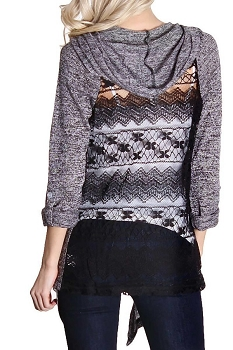 Smazy by Inance Lace Cardigan Hoodie