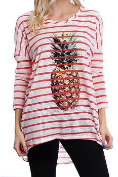 Smazy by Inance Pineapple Stripe Tunic
