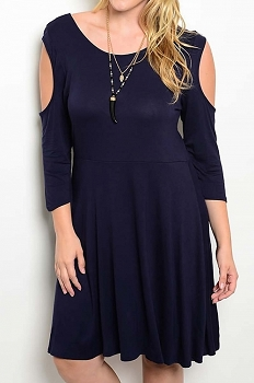 Smazy by Inance Curvy Plus Size Open Shoulder Dress