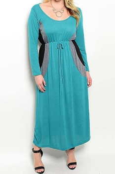 Smazy by Inance Tie Waist Curvy Plus Size Maxi Dress