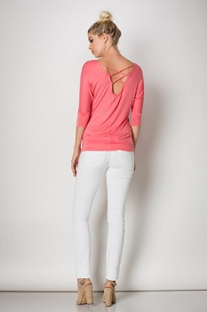 Inance Rooftop Party Top - Look at Me Coral, Creamiest Cream, Secret Agent Black - Made In The USA