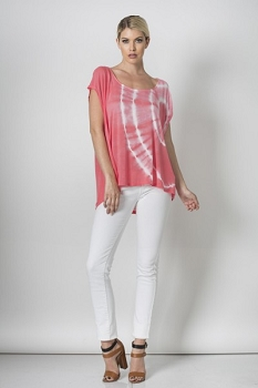 Inance Young Love in the Sun Tie-Dye Top - Pick Me Up Pink - Made In The USA