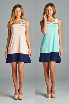 Inance Button Back Dress - 2 Color Choices