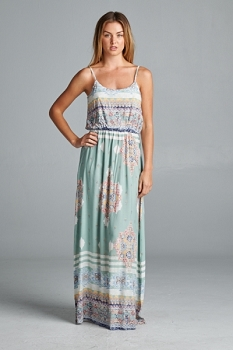 Inance Beautiful Print Maxi Dress - Made In The USA