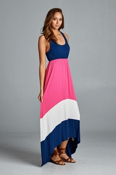 Inance Solid Tank Maxi Dress