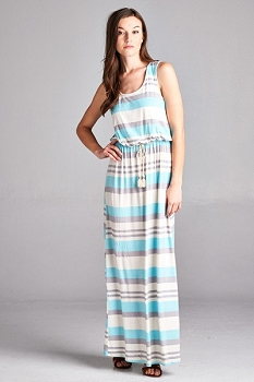 Inance Racer Back Strip Maxi Dress - 2 Color Choices