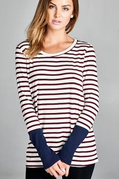 Inance Too Good to Be True Striped Top - Modern Stripes - Made In The USA