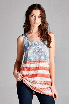 Inance Ready for a Road Trip Tank Top - Classic Stars and Stripes - Made In The USA