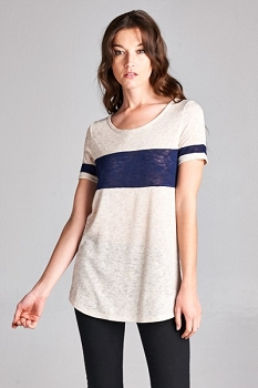 Not in Love Top - Shot of Navy / Cool Blue - Made In The USA