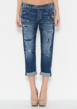 Inance Crop Boyfriend Denim Jeans