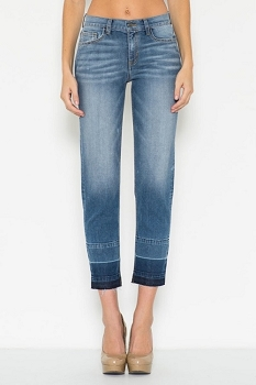 Inance Crop Wide Leg Silhouette Denim Jeans
