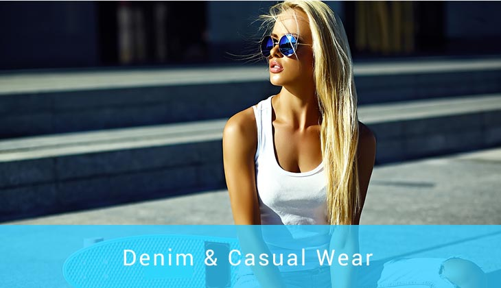 view our denim and casual wear