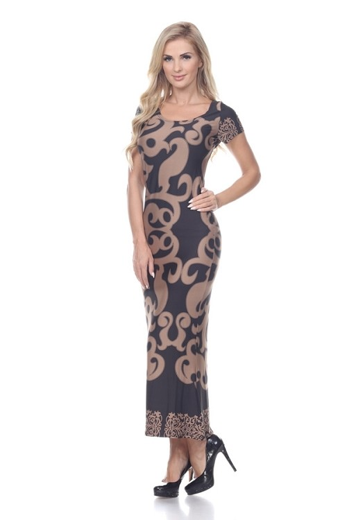 Smazy by Inance Print Maxi Dress in Blue or Beige
