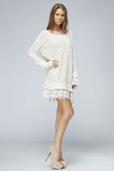 Inance Lace Knit Tunic Dress