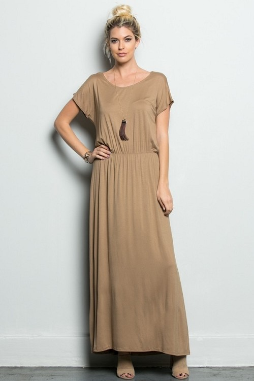 Inance Museums and Margaritas Maxi Dress - Sand - Made In The USA