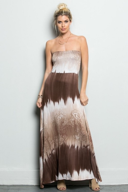 Inance Bohemian Princess Strapless Maxi Dress - Made In The USA