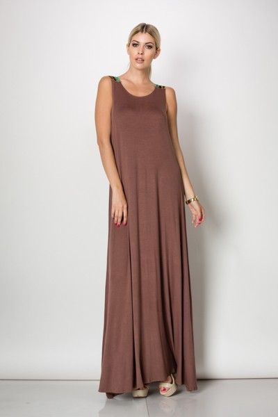 Inance Floating on Air Maxi Dress - Burnt Sienna - Made In The USA
