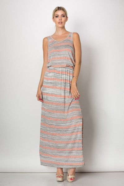 Inance First Time I Saw You Maxi Dress - Made In The USA - Coral or Sky Blue