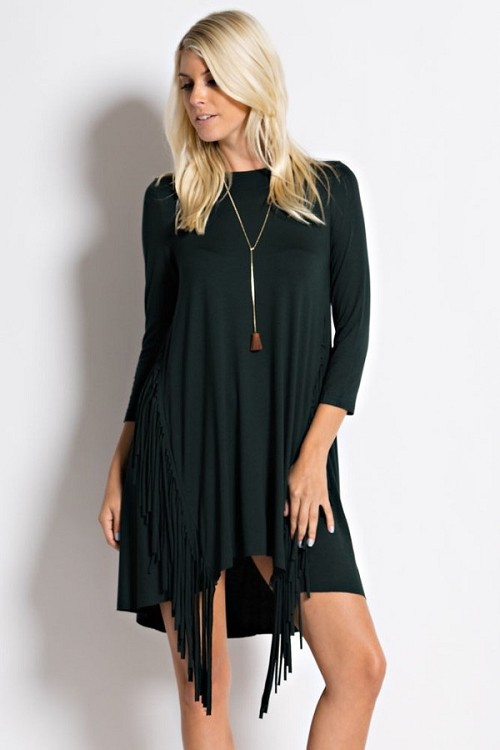 Inance Urban Cowgirl Fringed Mini Dress -  Made In The USA