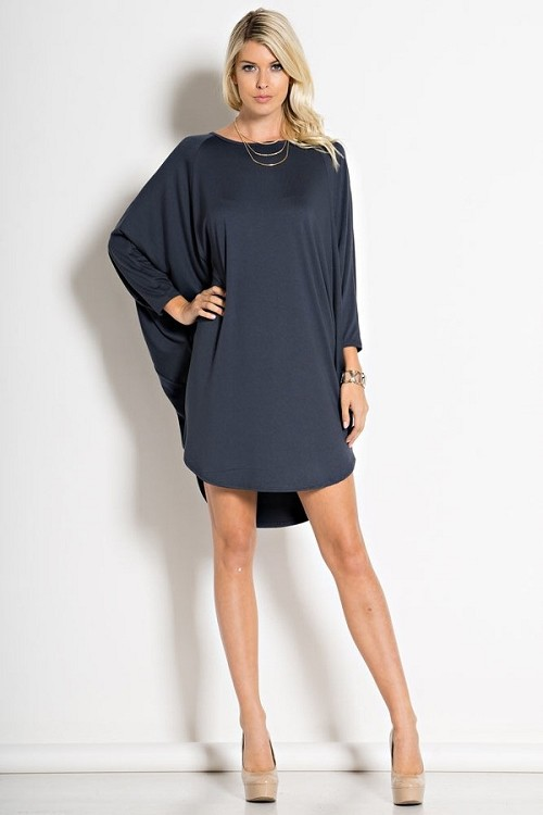 Inance Legs for Miles Mini Dress - Smoldering Navy - Made In The USA
