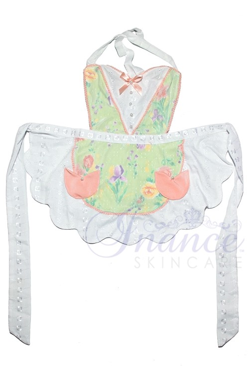 Inance Perfect Wife Apron - Green/Peach