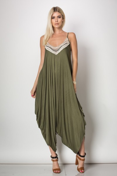 Inance Set Your Spirit Free Jumpsuit - Olive or Russet - Made In The USA