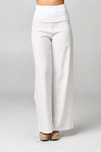 Inance Linen Summer's Coming Pants - Beach Resort White - Made in the USA