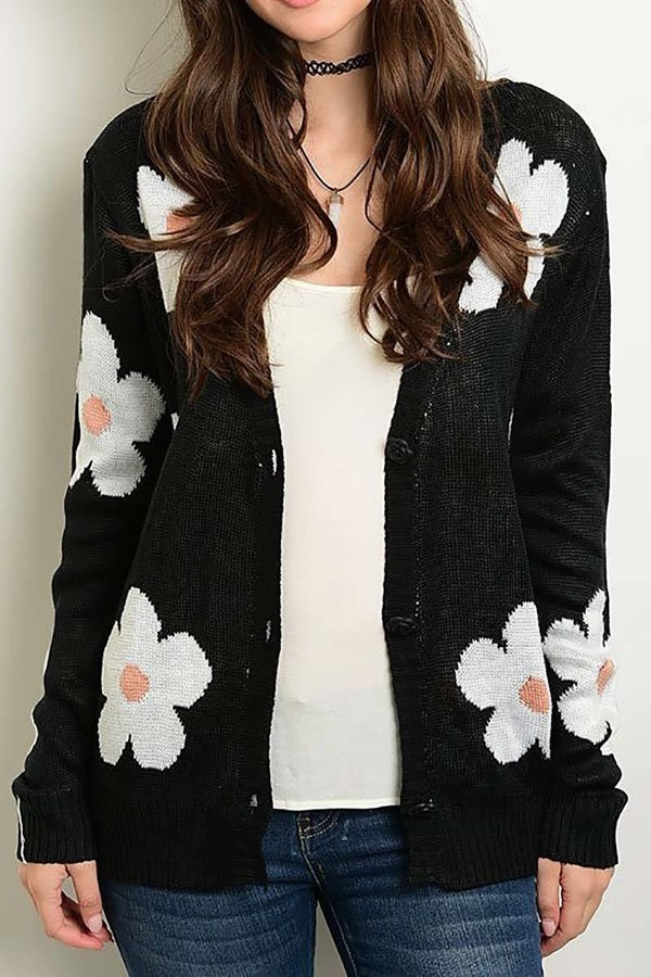 Smazy by Inance Floral Sweater Cardigan - 2 Color Choices