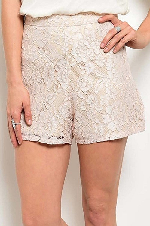 Smazy by Inance High Waisted Lace Mini Shorts