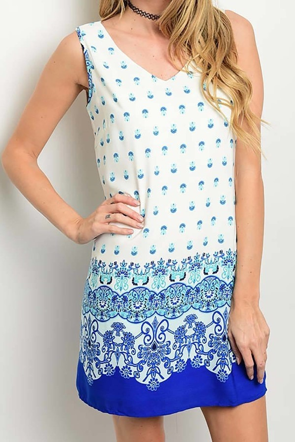 Smazy by Inance Open Back Geo Print Dress