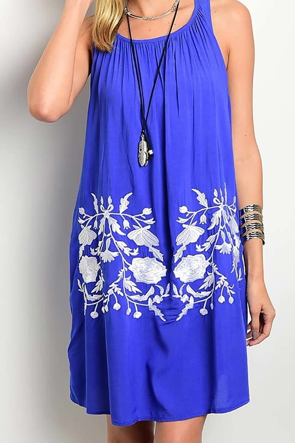 Smazy by Inance Loose Fit Embroidered Dress 2 Color Choices