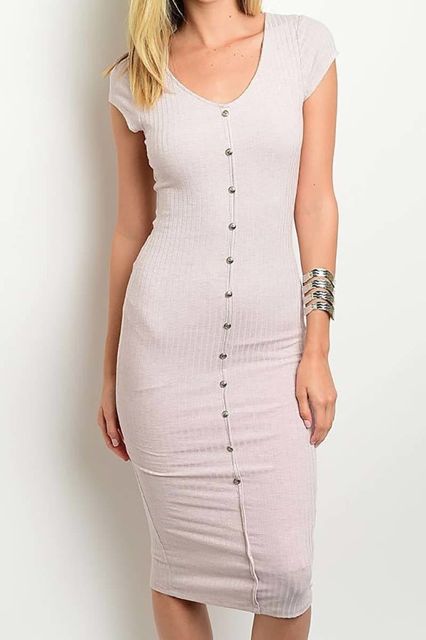 Smazy by Inance Button Front Body Con Dress