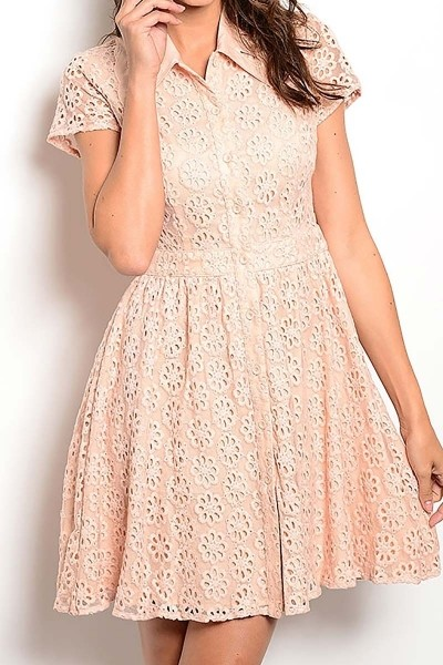 Smazy by Inance Button Down Lace Dress