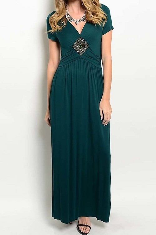 Smazy by Inance V-Neck Loose Fit Maxi Dress