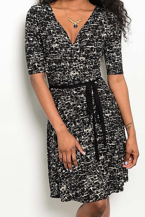 Smazy by Inance Print Wrap Dress