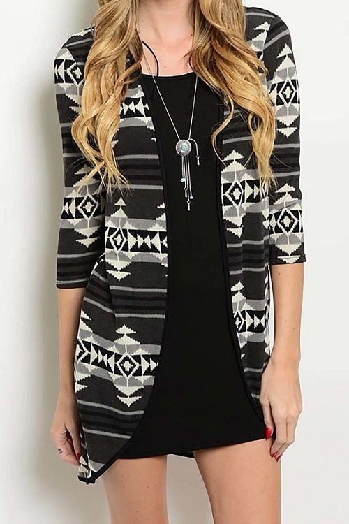 Smazy by Inance Cardigan Attached Dress