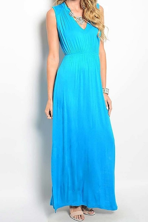 Smazy by Inance Sleeveless Slit Maxi Dress - 3 Color Choices