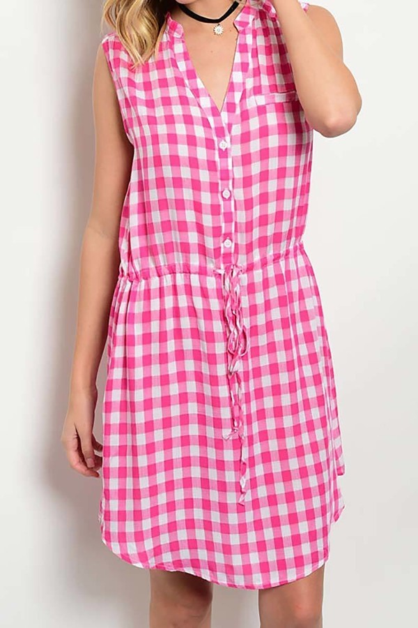 Smazy by Inance Loose Fit Plaid Dress - 2 Color Choices