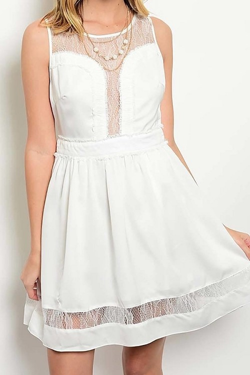 Smazy by Inance Babydoll Lace Accent Dress