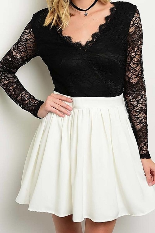 Smazy by Inance Fit & Flair Lace Top Dress