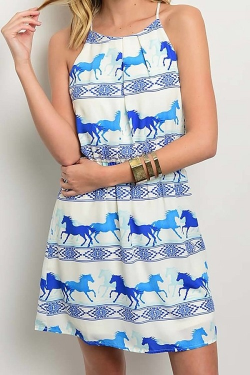 Smazy by Inance Spaghetti Strap Loose Print Dress