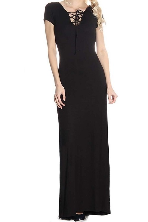 Smazy by Inance Cage Neck Maxi Dress