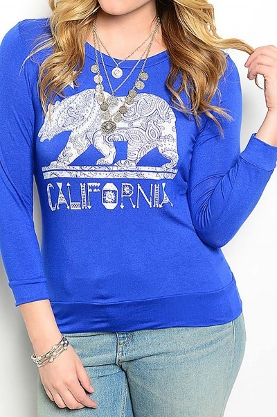 Smazy by Inance Curvy Plus Size California Top