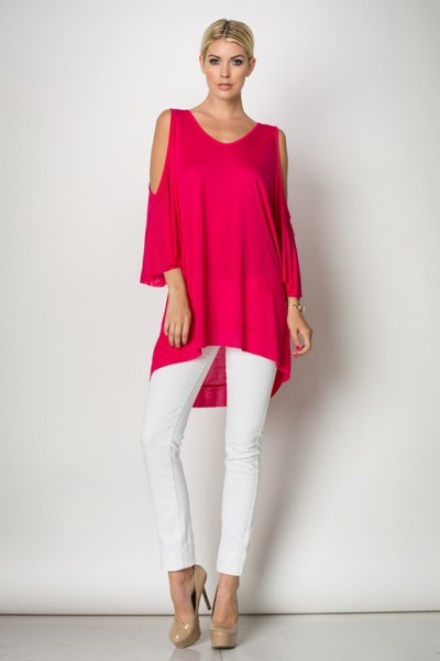 Inance Stand Out From the Crowd Tunic Top - Vivacious Pink - Made In The USA