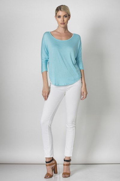 Inance Dream It, Believe It Top - Angel Blue / Lily White - Made In The USA