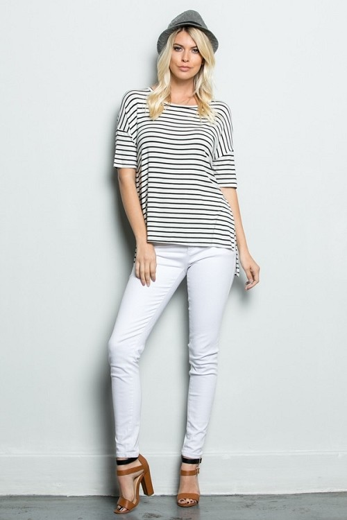 Inance Pure and Simple Striped Top - Classic Stripes - Made In the USA