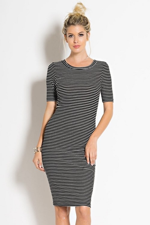 Inance Absolutely Perfect Striped Dress - Made In The USA