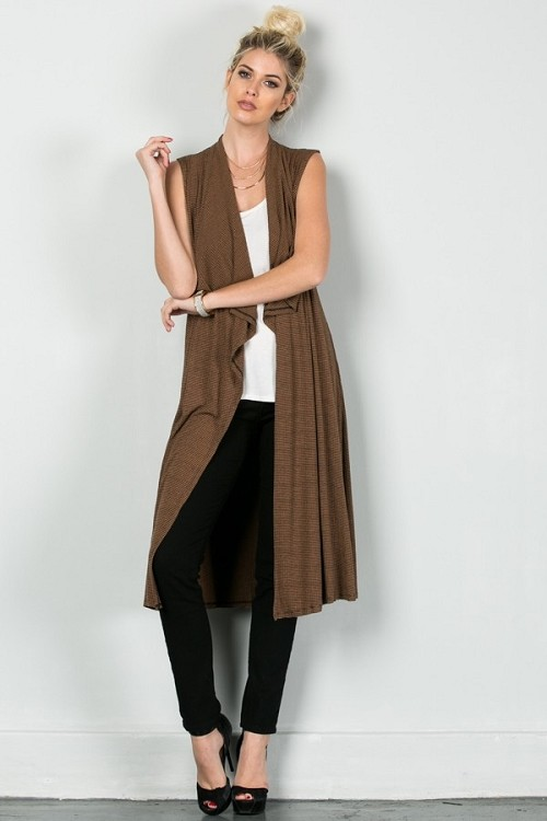 "Inance Bring Your ""A"" Game Draped Cardigan - Earth / Night Sky - Made In The USA"