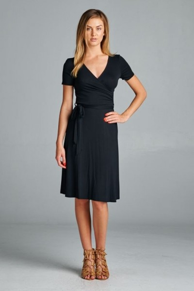 Inance Classic Wrap Dress, Made in USA