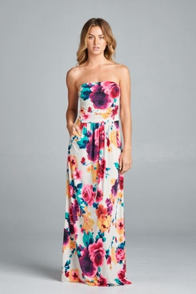 Inance Floral Sleeveless Maxi Dress - 3 Color Choices